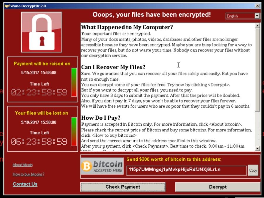 WannaCry Ransomware – Do you want to make decisions based on risk or value?